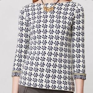 Field Flower Anthropologie Geo Bloom Pullover